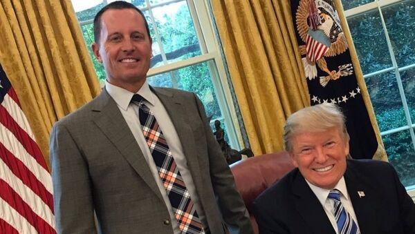 Donald Trump, Oval Ofis'te Richard Grenell ile - Sputnik Türkiye