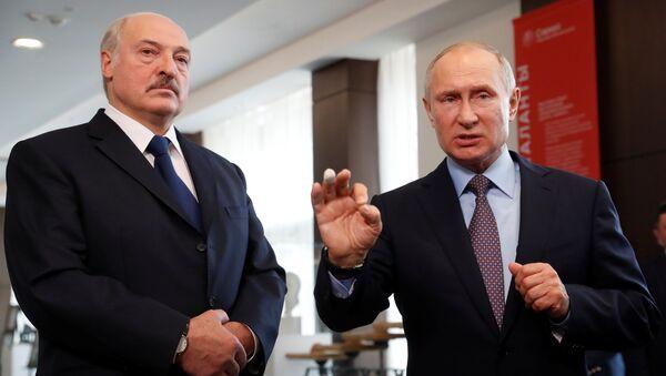 Belarus lideri Aleksandr Lukaşenko- Rusya lideri Vladimir Putin - Sputnik Türkiye