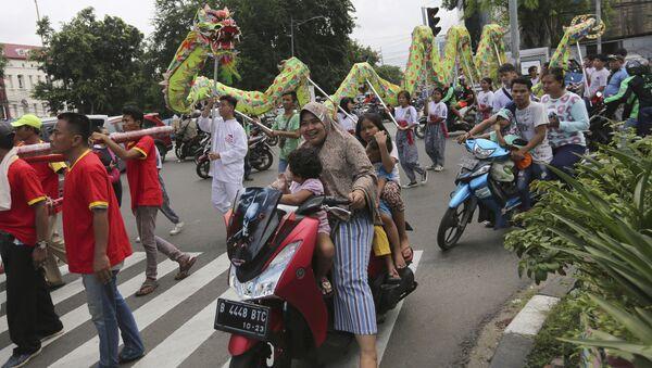 Endonezya'nın başkenti Cakarta'da bir festival - Sputnik Türkiye