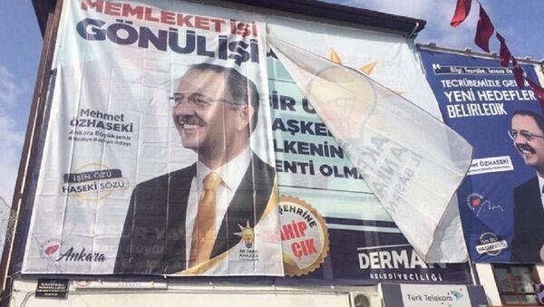 Mansur Yavaş, Mehmet Özhaseki, afiş - Sputnik Türkiye
