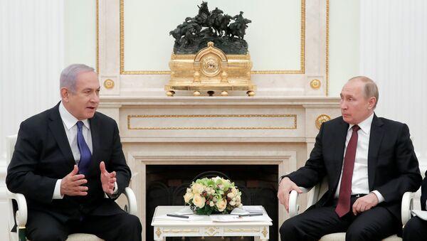 İsrail Başbakanı Benyamin Netanyahu, Rusya Devlet Başkanı Vladimir Putin - Sputnik Türkiye