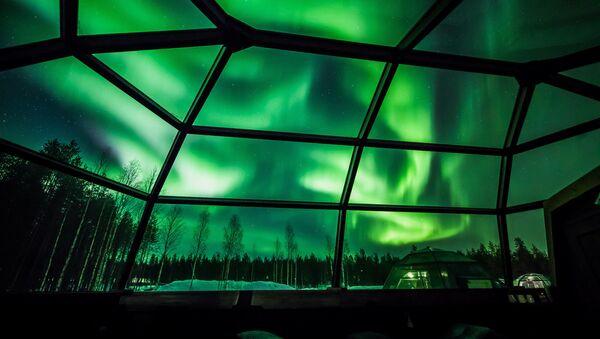 Finlandiya'da kutup ışıkları - Sputnik Türkiye