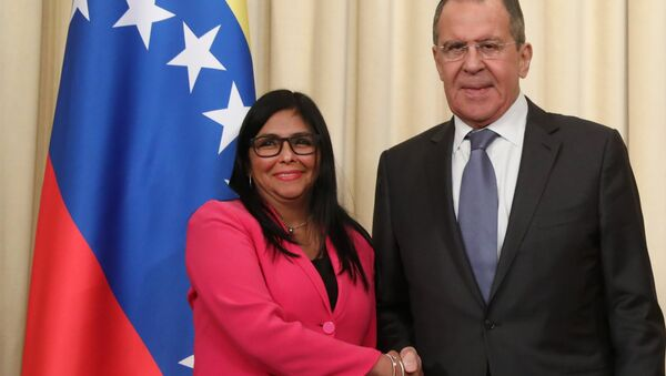 Rusya Dışişleri Bakanı Sergey Lavrov- Veneüzella Devlet Başkan Yardımcısı Delcy Rodríguez - Sputnik Türkiye