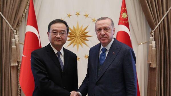 Deng Li - Recep Tayyip Erdoğan - Sputnik Türkiye