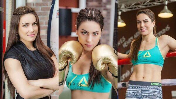 İki siklette dünya şampiyonu olan Kazak boksör Firuza Şaripova - Sputnik Türkiye