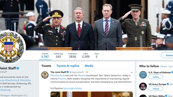 ABD Genelkurmayı kapak fotoğrafını güncelledi: Milli Savunma Bakanı Akar ve Orgeneral Güler karede - Sputnik Türkiye