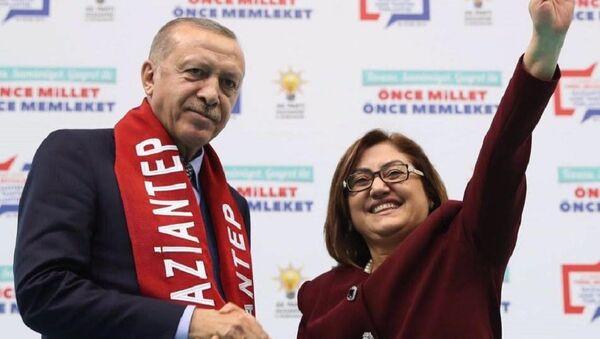 Recep Tayyip Erdoğan - Fatma Şahin - Sputnik Türkiye