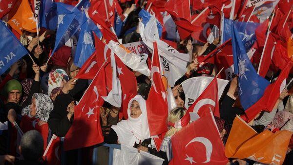 Cumhurbaşkanı Recep Tayyip Erdoğan, partisinin Diyarbakır'da düzenlediği mitinge katıldı - AK Parti'nin Diyarbakır mitingi - Sputnik Türkiye