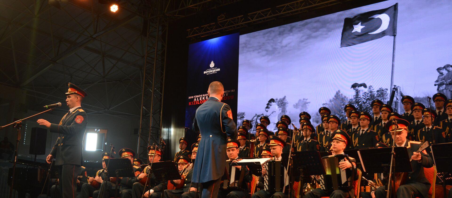 Alexandrov Kızılordu Korosu bu yıl Türkiye'deki ilk konserini gerçekleştirdi - Sputnik Türkiye, 1920, 18.03.2021
