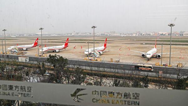 Etiyopya'da yaşanan uçak kazasının ardından bir kez daha güvenlik endişesiyle gündeme gelen Boeing 737 Max 8 tipi yolcu uçağı - Sputnik Türkiye