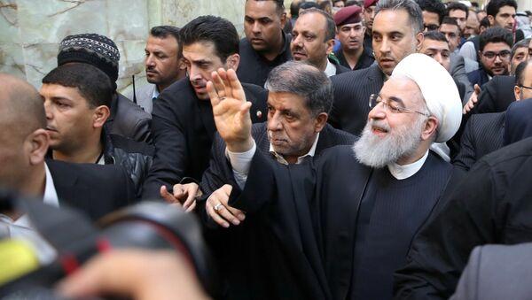 İran Cumhurbaşkanı Hasan Ruhani, Irak ziyareti kapsamında Necef kentini ziyaret etti - Sputnik Türkiye