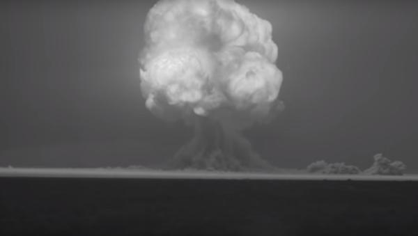 Tarihin ilk nükleer patlaması HD kalitesiyle ekranda - Sputnik Türkiye