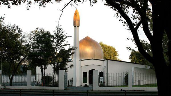 Yeni Zelanda'da Christchurch kentinde silahlı saldırı düzenlenen camilerden biri - Sputnik Türkiye
