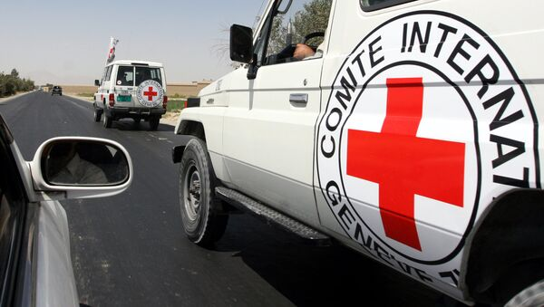 On Monday, a group of unidentified armed men stopped two vehicles with ICRC staff members traveling from the city of Mazar-e-Sharif to Kunduz and took one of the employees. - Sputnik Türkiye