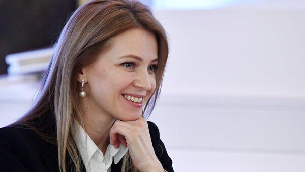 Rusya parlamentosunun alt kanadı Duma milletvekili ve eski Kırım Başsavcısı Natalya Poklonskaya - Sputnik Türkiye