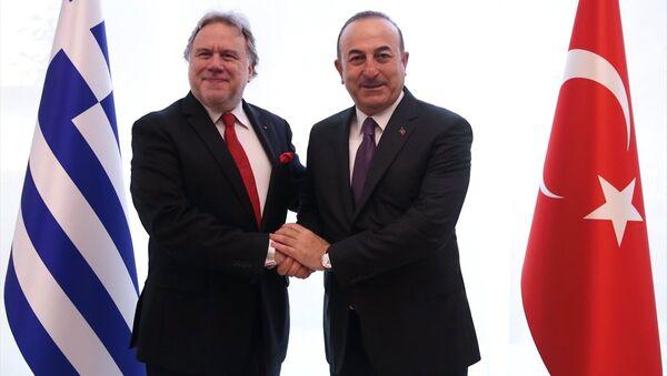 Mevlüt Çavuşoğlu - Georgios Katrugalos - Sputnik Türkiye