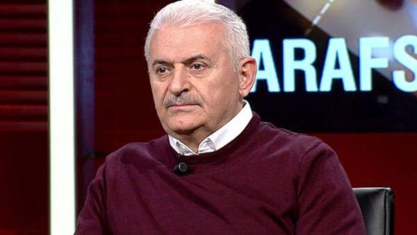 AK Parti İstanbul Büyükşehir Belediye Başkan Adayı Binali Yıldırım, Ahmet Hakan'ın sunduğu 'Tarafsız Bölge' programına konuk oldu. - Sputnik Türkiye