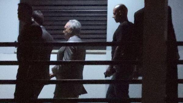 Tutuklanan eski Brezilya Cumhurbaşkanı Michel Temer   - Sputnik Türkiye