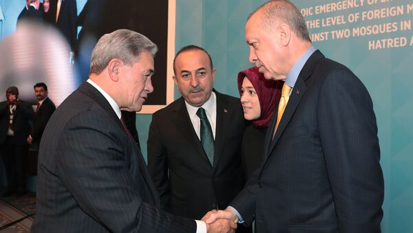 Cumhurbaşkanı Recep Tyayip Erdoğan - Yeni Zelanda Dışişleri Bakanı Winston Peters - Sputnik Türkiye