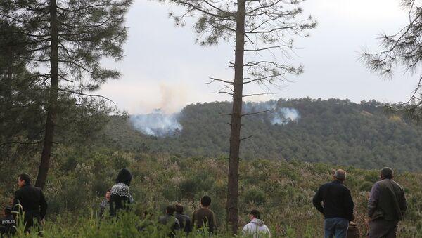 Sultanbeyli Aydos Ormanı'nda çıkan yangına orman ekipleri ile itfaiye ekipleri müdahale ediyor. - Sputnik Türkiye