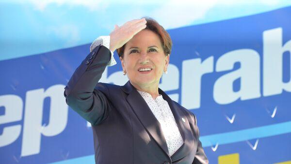 İYİ Parti lideri Meral Akşener Mersin mitinginde - Sputnik Türkiye