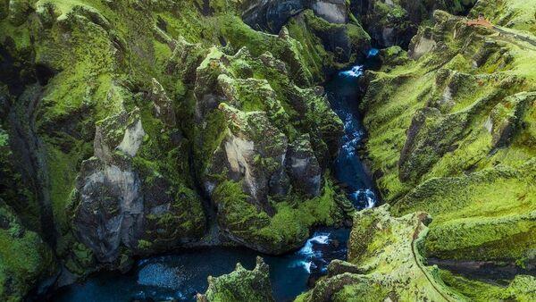 İzlanda Fjadrargljufur Kanyonu - Sputnik Türkiye
