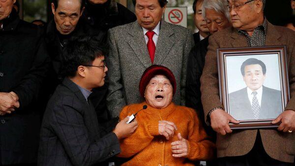 Japon sömürge döneminde savaş zamanı zorunlu çalışma kurbanı olan Kim Seong-ju - Sputnik Türkiye