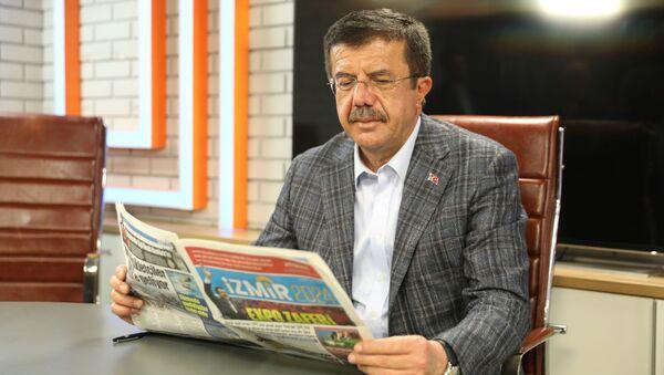 'İzmir 2024' adlı ve 31 Mart 2024 Pazar tarihini taşıyan gazetede, Zeybekci'nin İzmir için sözünü verdiği projelerin hayata geçmiş olduğu anlatıldı. - Sputnik Türkiye