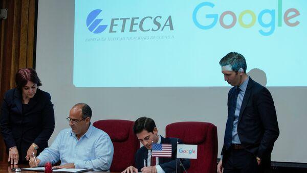 Google ve Küba arasında 'internet bağlantısını güçlendirme' anlaşması - Sputnik Türkiye