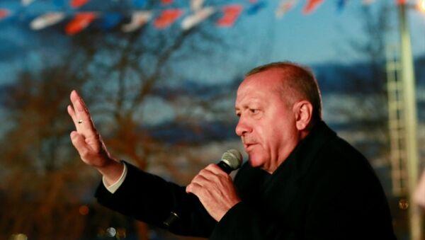 Cumhurbaşkanı Erdoğan, İstanbul Beykoz'da halka hitap etti. - Sputnik Türkiye