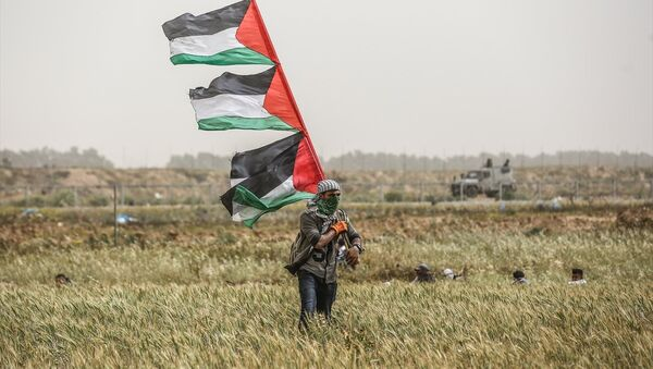 İsrail askerlerinden Gazze saldırısı - Sputnik Türkiye