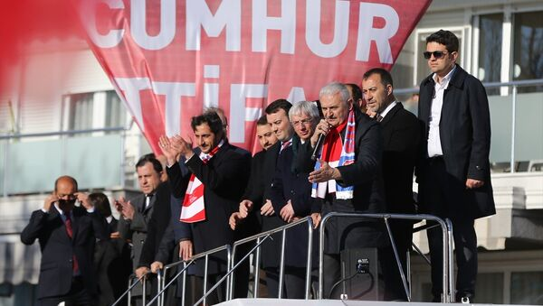 AK Parti İstanbul Büyükşehir Belediye Başkan Adayı Binali Yıldırım - Sputnik Türkiye