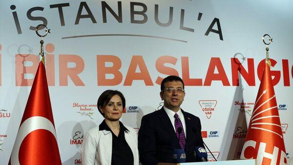 Canan Kaftancıoğlu - Ekrem İmamoğlu - Sputnik Türkiye
