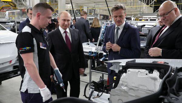 Rusya Devlet Başkanı Vladimir Putin- Mercedes - Sputnik Türkiye