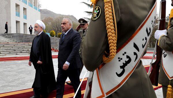 İran Cumhurbaşkanı Hasan Ruhani - Irak Başbakanı Adil Abdulmehdi - Sputnik Türkiye