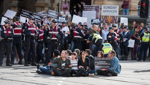Avustralya'da veganlar ve hayvanseverler ülke çapında eylem yaptı. - Sputnik Türkiye