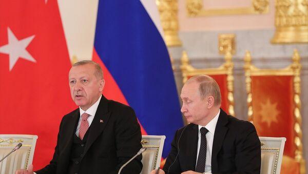 Recep Tayyip Erdoğan - Vladimir Putin - Sputnik Türkiye