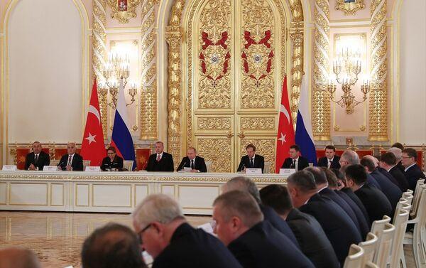 Moskova'da gerçekleşen Türkiye - Rusya 8. Üst düzey işbirliği toplantısı - Sputnik Türkiye