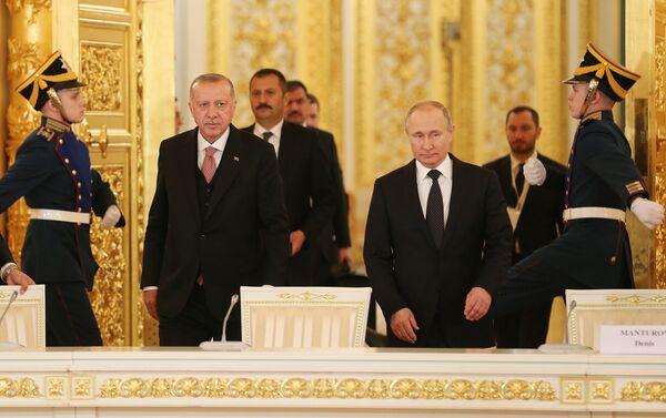 Vladimi Putin - Recep Tayyip Erdoğan - Sputnik Türkiye