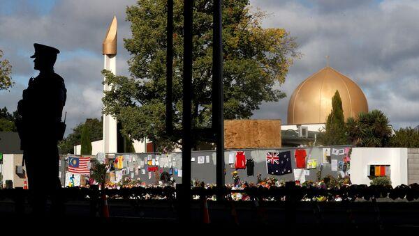 Yeni Zelanda Christchurch'te saldırıya uğrayan Al Noor camisi - Sputnik Türkiye