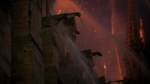 Notre Dame Katedrali'ndeki yangın sırasında, Victor Hugo'nun 'Notre Dame'ın Kamburu' romanında gargoyle heykelleri aşağıya ateş yağmurları kusuyordu  diye tasvir ettiği yangın sahnesi de akıllara geldi. - Sputnik Türkiye