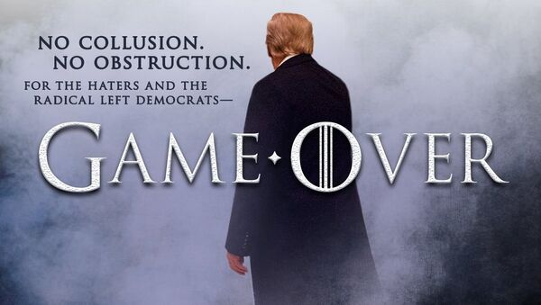 Mueller raporunun tamamının yayımlanmasının ardından Donald Trump'ın Taht Oyunları atıflı paylaşımı - Sputnik Türkiye