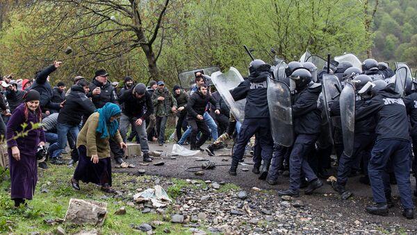 Gürcistan'daki HES protestosu  - Sputnik Türkiye