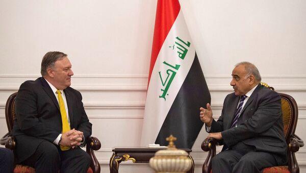 ABD Dışişleri Bakanı Pompeo, Irak Başbakanı Abdülmehdi ile telefonda görüştü - Sputnik Türkiye