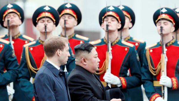 Kim Jong-un/ Vladivostok - Sputnik Türkiye