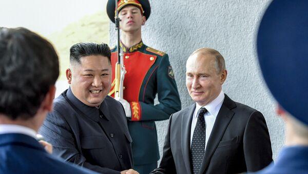 Putin - Kim - Sputnik Türkiye