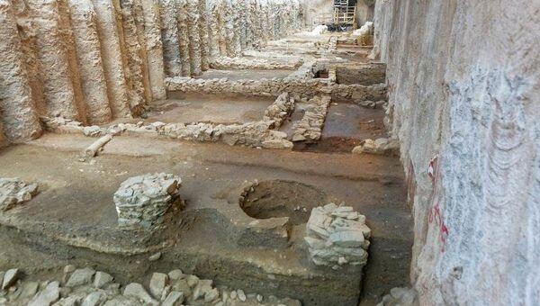 Yunanistan'ın Selanik şehrindeki metro inşaatında bulunan tarihi kalıntılar - Sputnik Türkiye