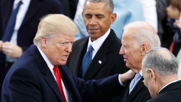 Trump'ın Biden ve Obama ile karşılaşması - Sputnik Türkiye