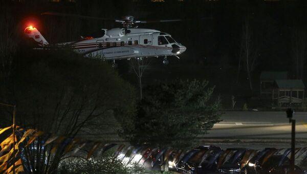 Türkiye Cumhurbaşkanı ve AK Parti Genel Başkanı Recep Tayyip Erdoğan - helikopter - Sputnik Türkiye