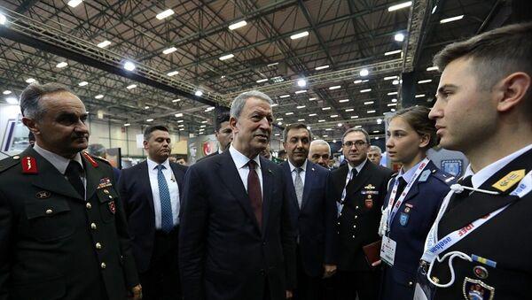 Hulusi Akar, IDEF'19 Fuarı - Sputnik Türkiye
